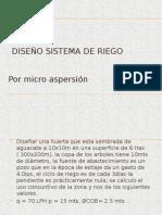 Diseño de Riego Por Microaspersion