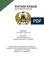 Presus Mutiara Insan Sangaji (07120090082) Dr. Toto Spog, k.onk Suspect Carcinoma Ovarium