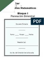 1er Grado - Bloque 1 - DeSAFÍOS Matemáticos