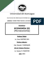 Prog. de Economía III 2014 UDA ARG