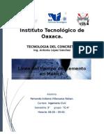 Linea Del Tiempo Del Cemento Tecnologia Del Concreto