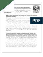 Comparación de Clasificaciones de Métodos de Minado en Operaciones Mineras (Subterráneas)