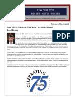 Newsletter|FEB-MAR 2015