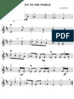 Joy to the World violin