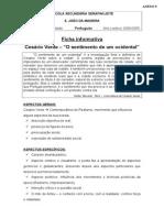 Ficha Informativa Poema Sentimento de Um Ocidental - Cesário Verde