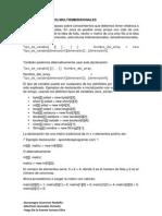 Investigación Arreglos Unidimensionales en Java y Miltidimensionales