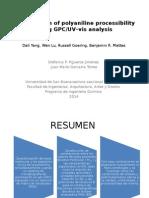 Investigation of Polyaniline Processibility Using GPC