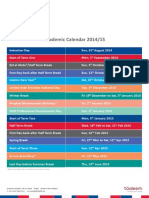 Dubai British Foundation - Academic Calendar 2014-15