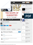 The Scope of Humanities