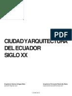 Ciudad y arquitectura del Ecuador. Siglo XX