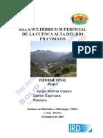 2005 Molina Pilcomayo BilanHydrique