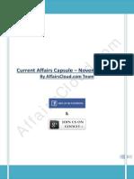 Current Affairs Capsule -November