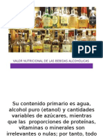 Valor Nutricional de Las Bebidas Alcohólicas