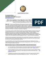 Republican Press Release HB2177 MV Bill