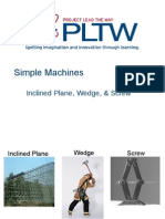 Simple Machines Inclined Plane Wedge Screw