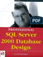 MSSQL-Prof.sql Server 2k DB Design Wrox
