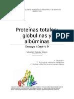 Ensayo NUEVE (Proteínas Totales; Globulinas y Albúminas)