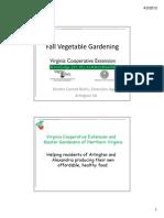 Row Covers & Fall Vegetable Gardening; Gardening Guidebook for Arlington County, Virginia