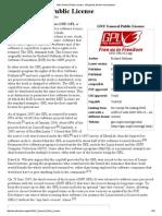 GNU General Public License - Wikipedia, The Free Encyclopedia