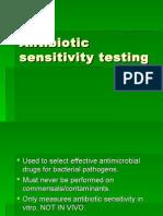 Antibiotic Sensitivity Testing