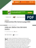 03-02-15 Fideicomiso Río Sonora paga 800 mdp por daños tras derrame tóxico