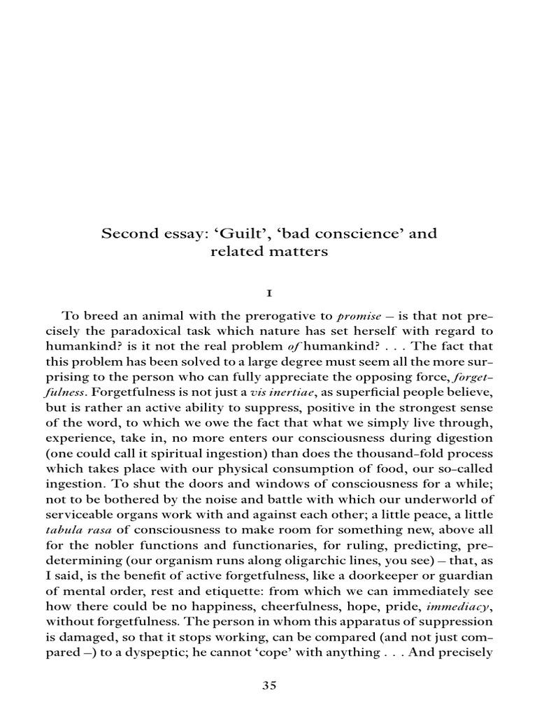 friedrich nietzsche second essay