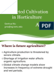 Protected Cultivation in Horticulture; Gardening Guidebook for Texas