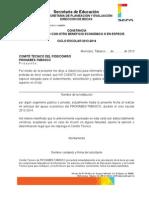 Carta No Beca Pronabes 2013