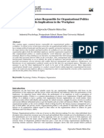 Assessment of Factors Responsible for Organizational Politics