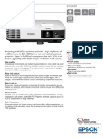 Epson EB-1980WU Bright Business Projector