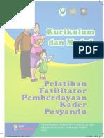 Modul Pelatihan Fasilitator Kader Posyandu 2012