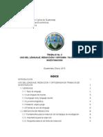 Trabajo 2 - Uso Del Lenguaje Redaccion y Ortogragia en Trabajos de Investigación