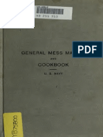 1904 General Mess Manual and Cookbook for Use on Board Vessels of the United States Navy