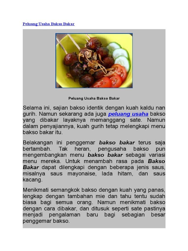 Contoh Proposal Usaha Makanan Bakso Bakar - Berbagi Contoh ...