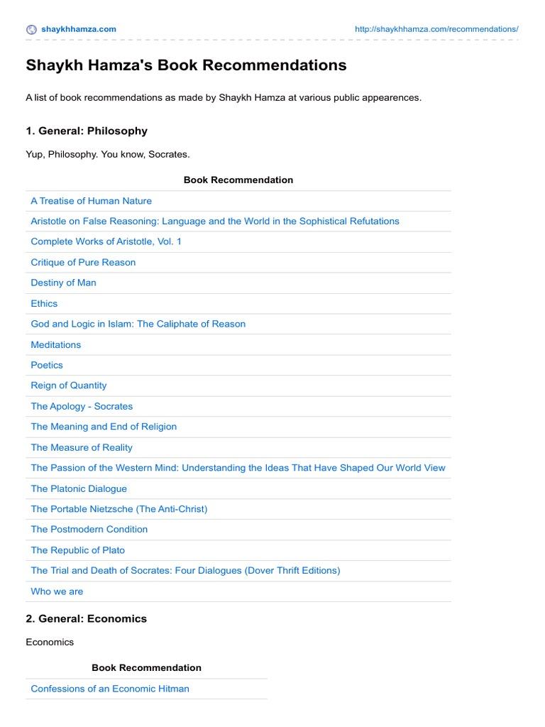 Shaykhhamzasf com-Shaykh Hamzas Book Recommendations | Quran