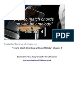 Chord Chart How to Match Chords Up With Any Melody Ch 4 Playpianotoday