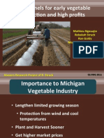 Low Tunnels for Early Vegetable Production & High Profits; Gardening Guidebook for Michigan
