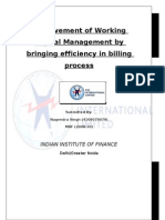 Improvement of Working Capital Management by Bringing Efficiency in Billing Process