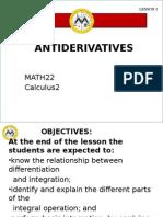 Lesson 1 AntiDerivatives