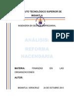 Análisis de La Reforma Hacendaria
