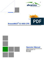 BreezeMAX 4000 Si CPE Operator Manual 100324
