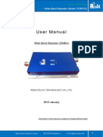 User Manual Wide Band Repeater PORP20