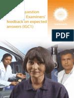 Examiners Report