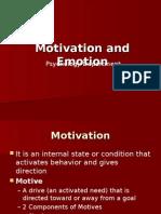 Motivation & Emotion