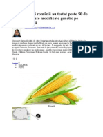 Americanii Au Testat Peste 50 de Tipuri de Plante Modificate Genetic Pe Teritoriul Ţării