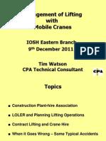IOSH Mobile Cranes Dec 2011