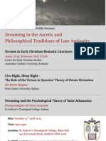 Dreaming in the Ascetic and Philosophical Traditions of Late Antiquity