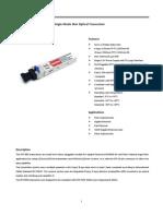 1.25Gbps Bi-Drectional SFP Single-Mode 3km Optical Transceivr