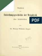 Studien Entstehungsgeschichte Der Metaphysic Des Aristotelis (W. Jaeger)