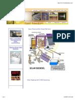 Solar Powered Bio-Diesel Refinery